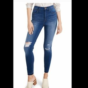 Madewell Ripped high waist crop skinny jeans